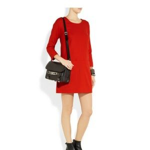 J. Crew Jules Dress Red Shift Dress Wool Blend